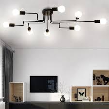 vintage industrial flush mount ceiling light chandelier steampunk light fixture