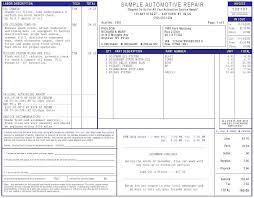 Mechanic Shop Invoice Templates Auto Repair Automotive Work Order