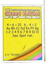 Chart Tablet Lg 1 1 2 Ruled Assorted