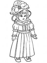 Small Picture Victorian Doll with Ballgown Coloring Page coloring pages