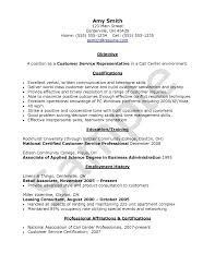 Supervisor Objective For Resume Call Center Resumetives Exampletive Examples Career Samples 32