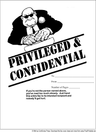 Funny Fax Cover Sheet Fascinating Confidential Cover Sheet Gottayottico