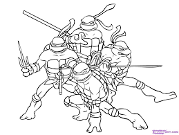 How To Draw Ninja Turtles Stepstep Characters Pop Culture In