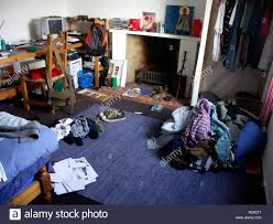 Perfect Messy Piles Of Clothes In Teenage Boyu0027s Bedroom
