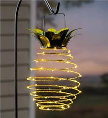 hanging solar lights outdoor hanging solar lantern decoration pineapple