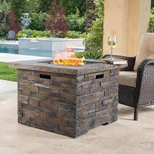 stonecrest patio furniture outdoor propane gas fire pit table