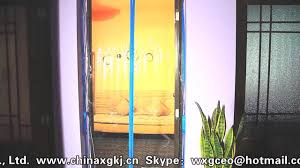 Magnetic Curtains For Doors Good Quality Eva Transparent Thermal Curtain Magnetic Door Youtube