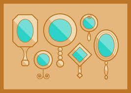 hand mirror vector. vintage hand mirror vector image (free download)