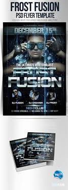 music party flyer templates flyer templates flyer icey fusion psd winter flyer template