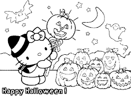Small Picture Hello Kitty Happy Halloween Coloring Pages Free Internet