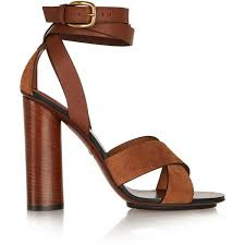 gucci leather and suede sandals 850 found on polyvore featuring shoes sandals heels gucci brown brown suede shoes brown leather sandals brown