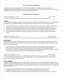 Management Skills Resume Stunning 608 24 Professional Manager Resumes PDF DOC Free Premium Templates