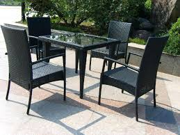 4 chair patio set black wicker patio furniture sets with small square patio table and 4 4 chair patio set 4 piece rattan outdoor