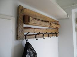Diy Wood Coat Rack Diy Wood Coat Rack Design With Black Hook In The Corner Room Ideas 44