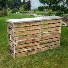 patio bar wood. Introduction: Pallet Patio Bar With Concrete Top Wood