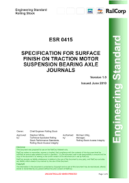 Specification For Surface Finish On Traction Motor