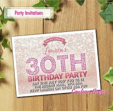 birthday invitations party invites personalised 18th 21st 30th 40th 50th 1 of 4