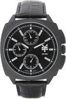 matte black watches men shopstyle zoo york mens matte black leather strap watch