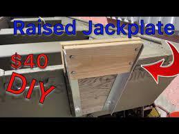 jon boat ideas raised motor jack plate