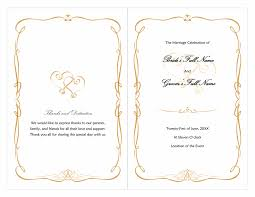 Free Microsoft Word Wedding Program Template Word Wedding Program Free Template Wedding Program