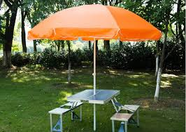 steel frame outside patio table umbrella stand alone parasol for garden