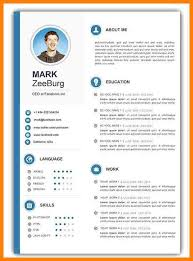Cv Template Doc Word Resume Template Templates Doc Latest Format
