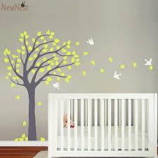 nursery tree wall decal vinyl sticker blowing summer tree wall