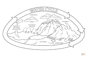 Small Picture Free Printable Water Cycle Coloring Page 16 For Coloring Pages Of