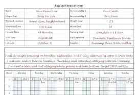 Week Training Plan Template Fitness Planner For Focused Program ...