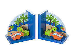 kids blue dinosaur bookends for boys dino themed bedroom or baby nursery ebay
