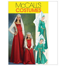 Mccalls Costume Patterns Extraordinary McCall's Misses'Children's Girls' Medieval Costumes Pattern M48