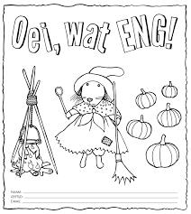 Gruwelijk Eng Kinderboekenweek Kleurplaat