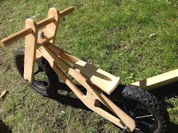 picture of wooden balance bike