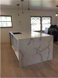 completely new calacatta gold quartz countertop mitered edeg and island with uk92