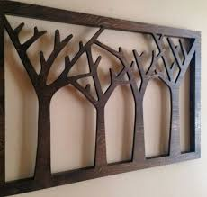 wood tree cut out wall art