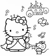 Twin hello kitty coloring paged5bf. Hello Kitty Music Coloring Page