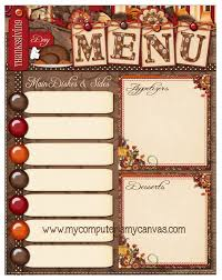 Freebie Thanksgiving Day Menu Printable My Computer Is My Canvas
