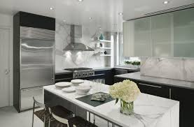 Contemporary Kitchen With Simple Granite Counters European