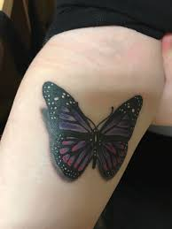 3d Butterfly Memorial Tattoo Done By Jeremy Stafford In Pensacolafl