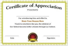 Volunteer Certificate Of Appreciation Templates Volunteer Certificate Of Appreciation Template Hq Templates