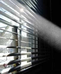 dust in sun beam coming thru window that will get into the finish