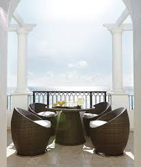outdoor furniture for small spaces. interesting spaces dark brown round unique rattan patio furniture small spaces varnished  ideas for with outdoor e
