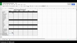 Monthly Budget Sheet Hasnydes Us Spreadsheet Google Docs 9 Excel