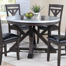 zinc top dining table francesca round 42 inch diameter pottery barn reviews