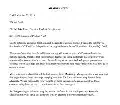 Example Memo Letter For Of Lateness Memorandum Company Staff