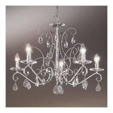 kolarz principessa 5 lamp swarovski crystal chandelier in chrome