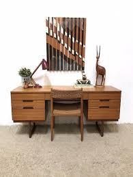 60s Vintage retro Mid Century Uniflex Q range dressing table desk by  Gunther Hoffstead