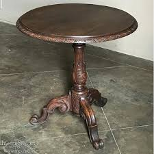 antique wood end tables antique renaissance round end table lamp table
