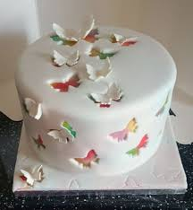 Cut Out Rainbow Butterfly Cake Cakecentralcom
