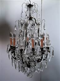 louis xv style french cage crystal chandelier with poignards 19th century